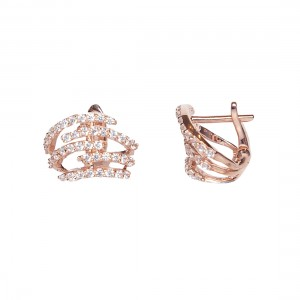 HUG EARRINGS ROSE GOLD VERMEIL