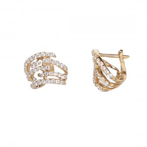 HUG EARRINGS  GOLD VERMEIL