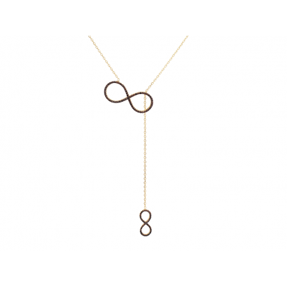 BIG INFINITY AND SMALL INFINITY ELEVATOR PENDANT GOLD VERMEIL