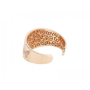 BUTTERFLY BANGLE ROSE GOLD VERMEIL WHITE CZ STONES