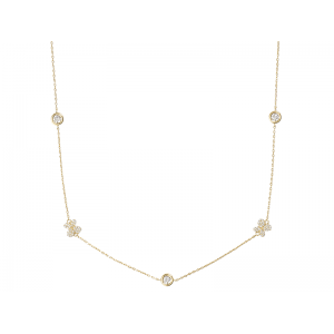 BY THE YARD BUTTERFLY NECKLACE GOLD VERMEIL