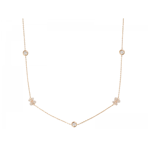 BUTTERFLY ROSE NECKLACE GOLD VERMEIL