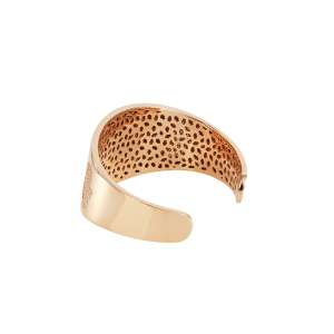 HAND / HAMSA BANGLE ROSE GOLD VERMEIL WHITE CZ STONES