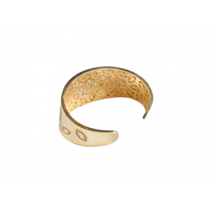LIP BANGLE GOLD VERMEIL RED CZ STONES