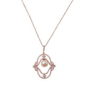 MAJESTIC PEARL PENDANT ROSE GOLD VERMEIL