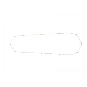 MARQUISE NECKLACE GOLD VERMEIL WHITE CZ STONES
