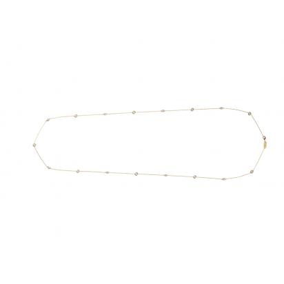 MARQUISE NECKLACE GOLD VERMEIL WHITE CZ STONES