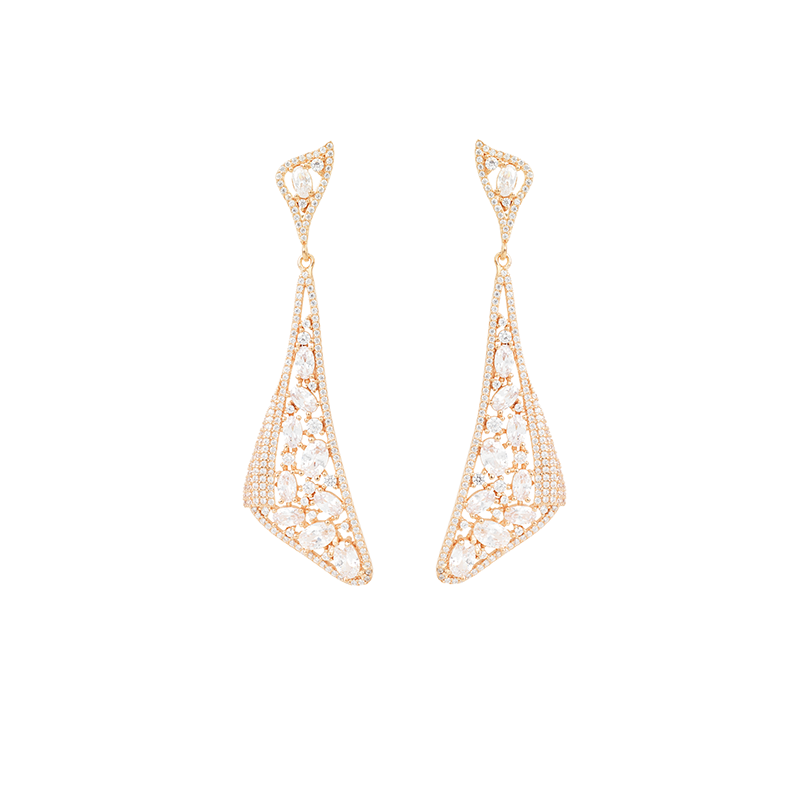 MOSAIC DROP EARRINGS ROSE GOLD VERMEIL