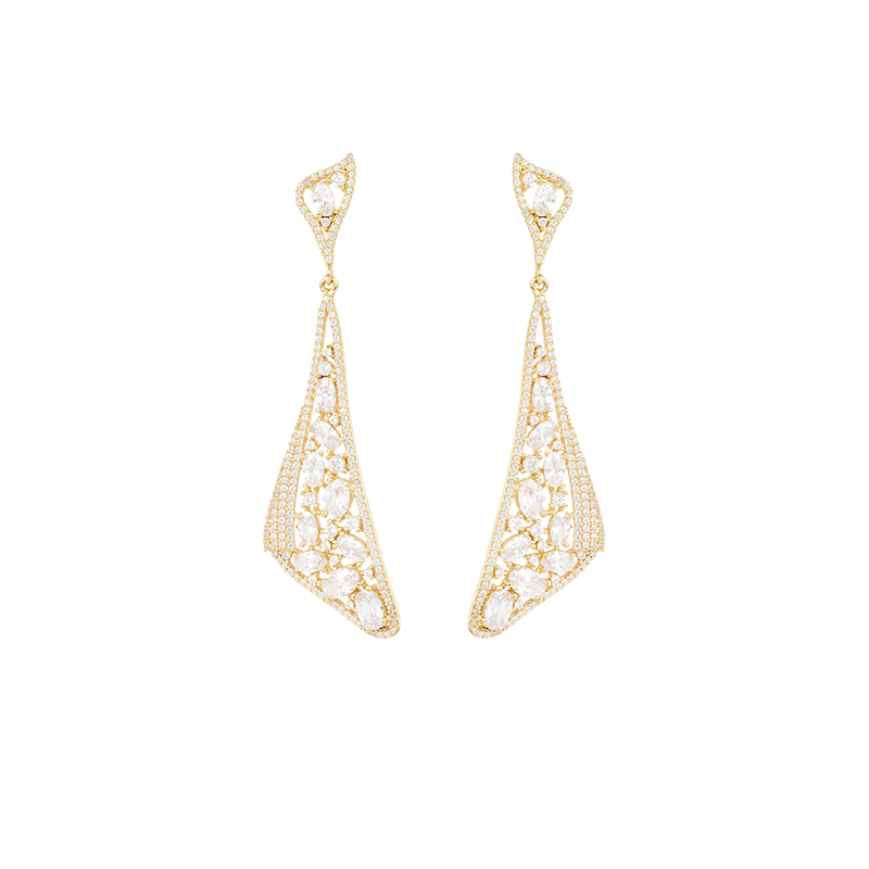 MOSAIC DROP EARRINGS GOLD VERMEIL