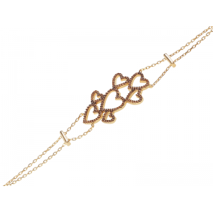 MULTI HEART BRACELET GOLD VERMEIL