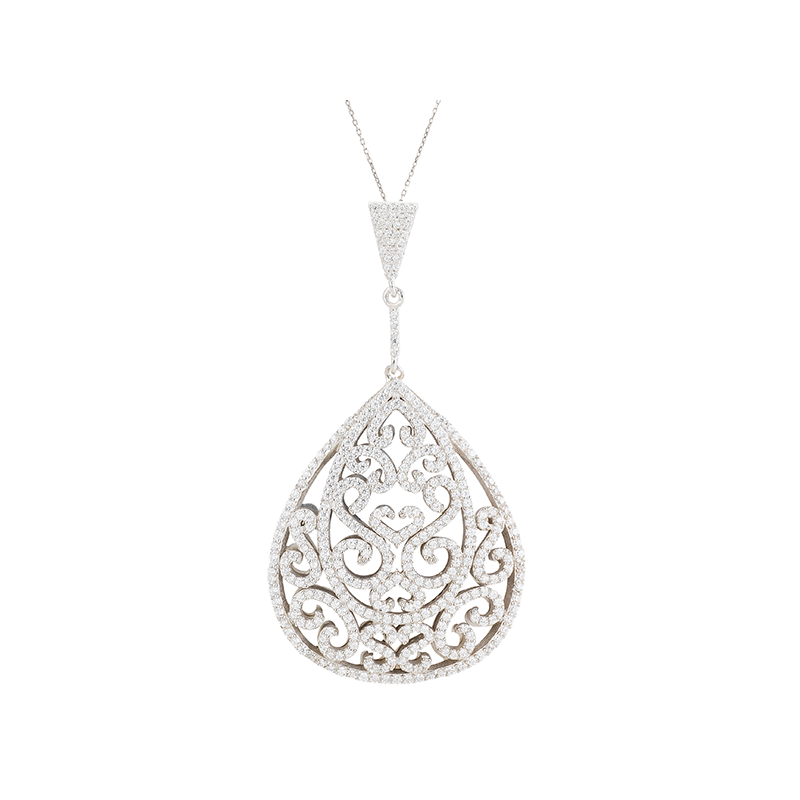 ORNATE PENDANT SILVER