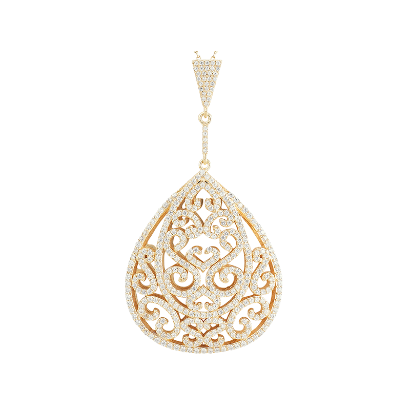 ORNATE PENDANT GOLD VERMEIL