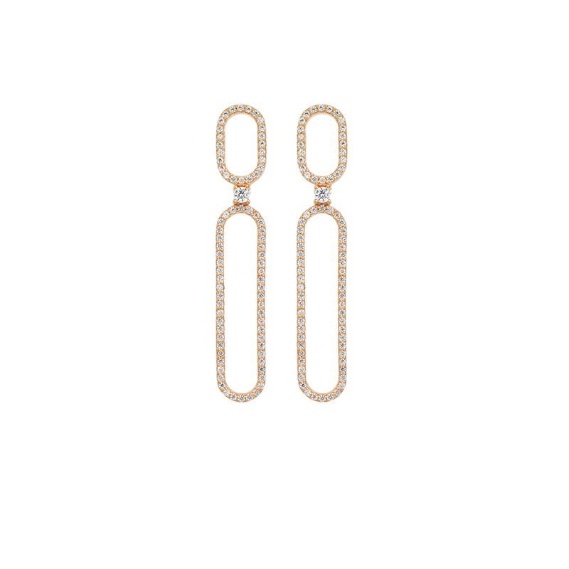 OVAL EARRINGS ROSE GOLD VERMEIL