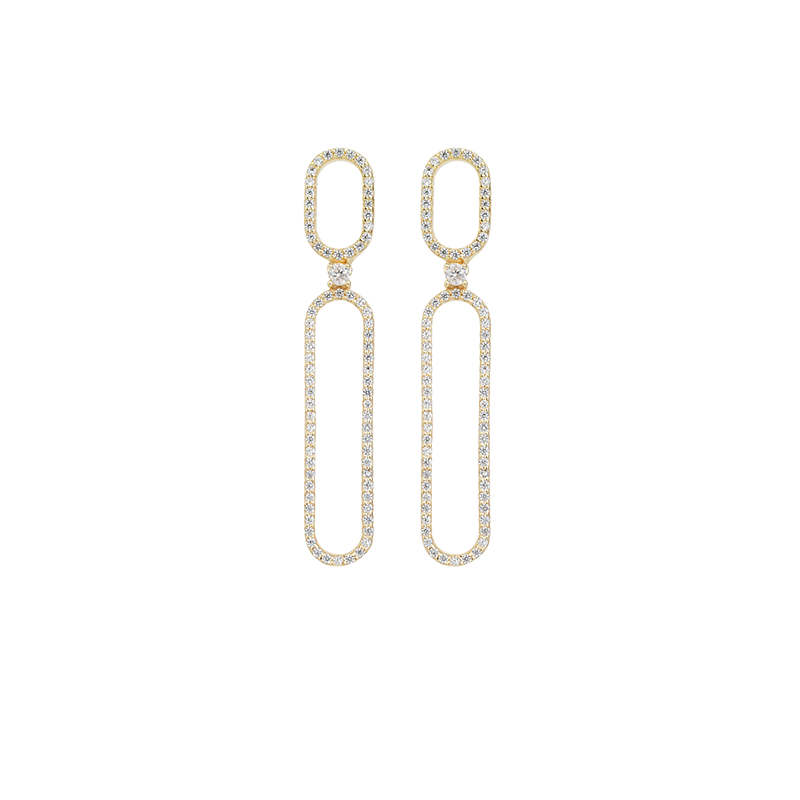 OVAL EARRINGS GOLD VERMEIL