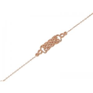 REGAL BRACELET ROSE GOLD VERMEIL WHITE STONES