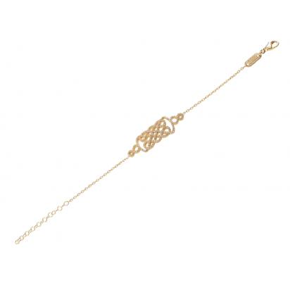 REGAL BRACELET GOLD VERMEIL WHITE STONES