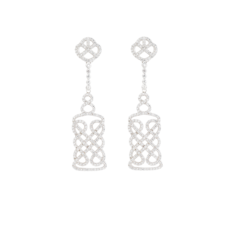 REGAL EARRINGS SILVER