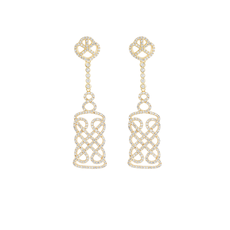 REGAL EARRINGS GOLD VERMEIL