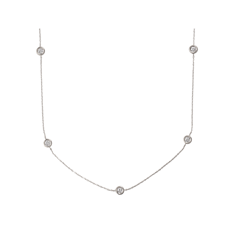 BY THE YARD ROUND NECKLACE SILVER