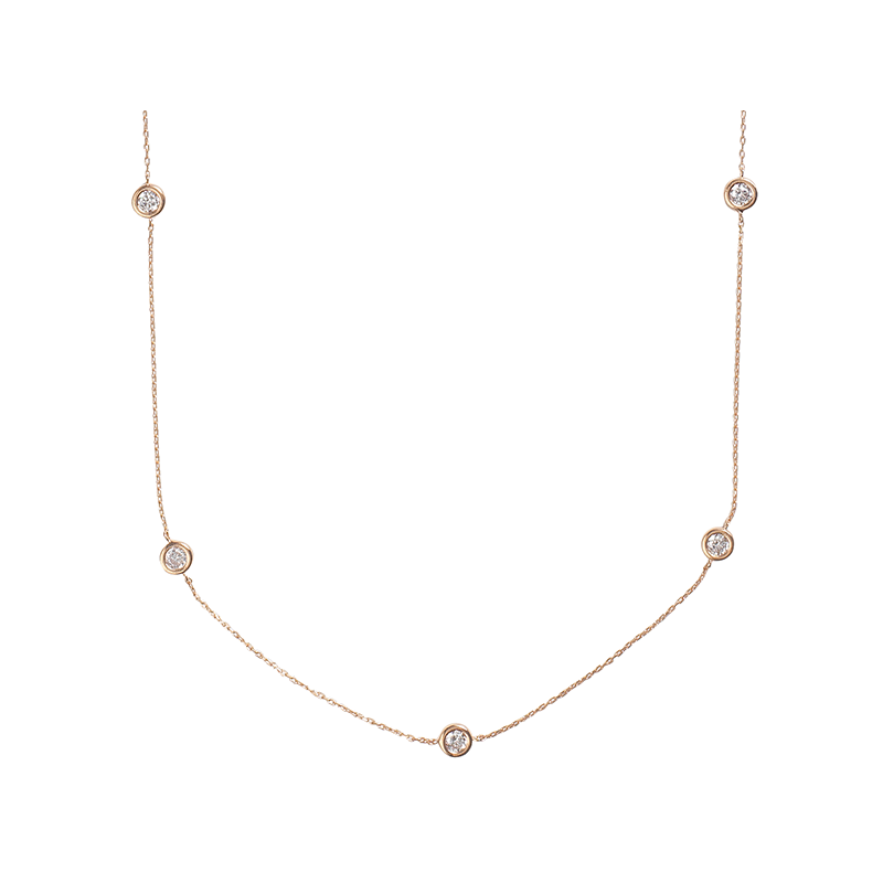 BY THE YARD ROUND NECKLACE GOLD VERMEIL