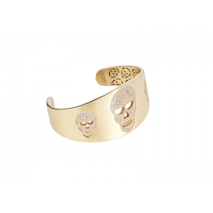 SKULL BANGLE GOLD VERMEIL