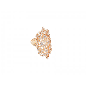 SKULLY RING ROSE GOLD VERMEIL WHITE