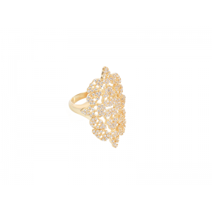 SKULLY RING GOLD VERMEIL