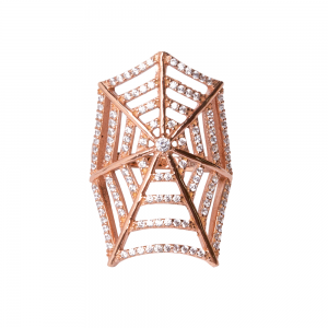 SPIDERWEB RING ROSE GOLD VERMEIL