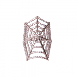 SPIDERWEB RING SILVER
