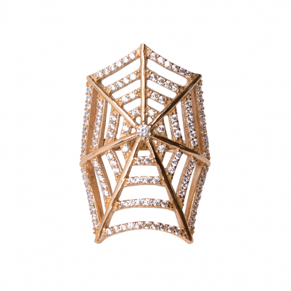 SPIDERWEB RING GOLD VERMEIL