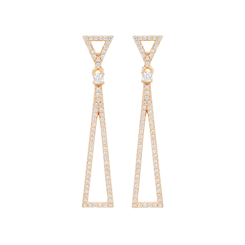 TRIANGLE EARRINGS ROSE GOLD VERMEIL