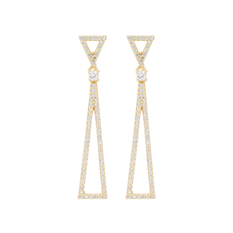 TRIANGLE EARRINGS GOLD VERMEIL