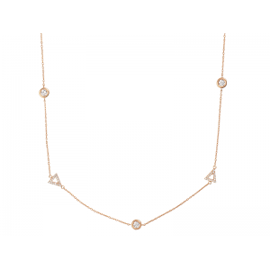 BY THE YARD TRIANGLE NECKLACE ROSE GOLD VERMEIL