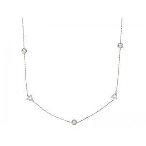 BY THE YARD TRIANGLE NECKLACE SILVER