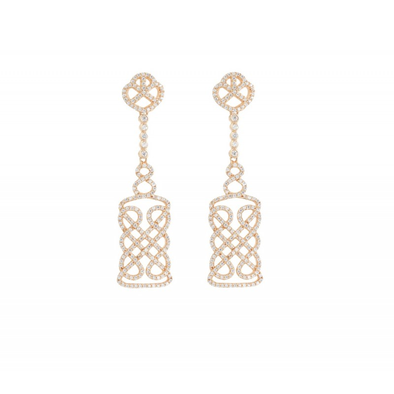 REGAL EARRINGS ROSE GOLD VERMEIL